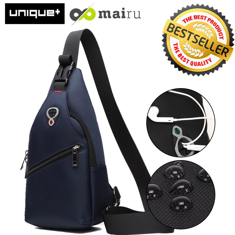 Mairu Tas Selempang Anti Air - Oxford Sling Bag Ultralight Travel and Running Bag