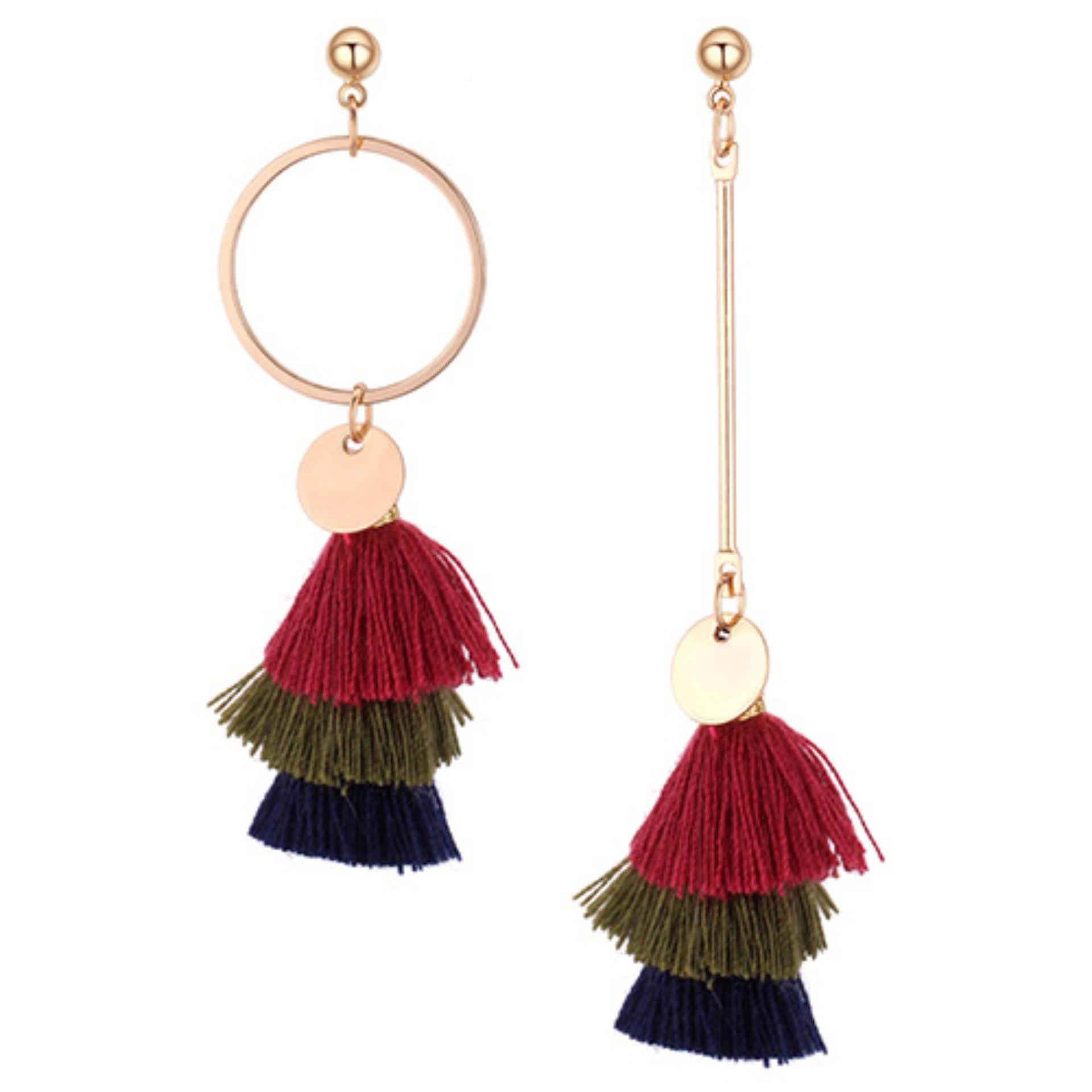 LRC Anting Tusuk Fashion Color-matching Decorated Earrings