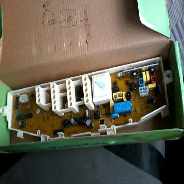 modul mesin cuci samsung 5 tombol pengaturan tanpa lcd digital angka rangkaian panel mesin cuci