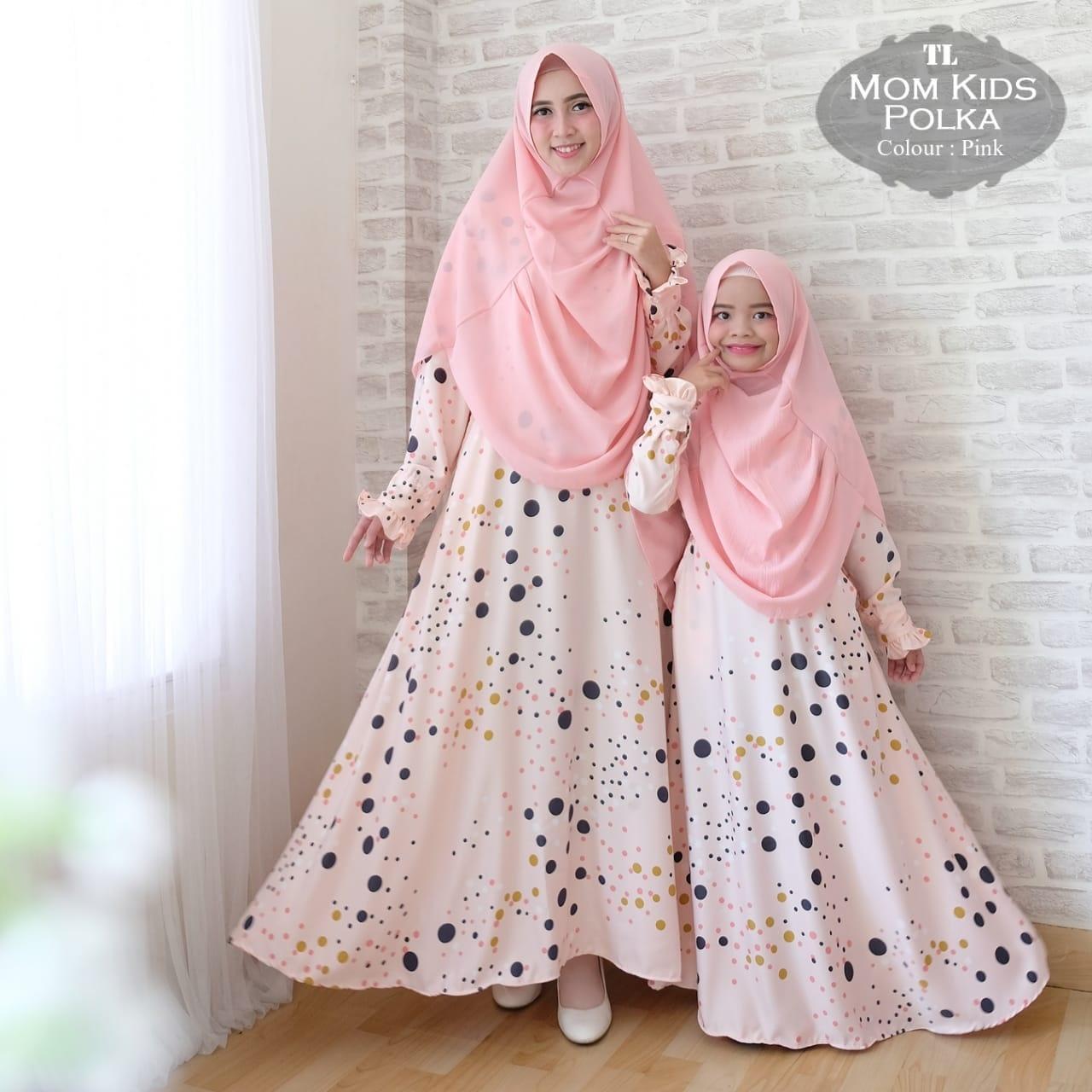 Key&kay88 Gamis muslim syar'i maxmara lux polka ibu dan anak couple