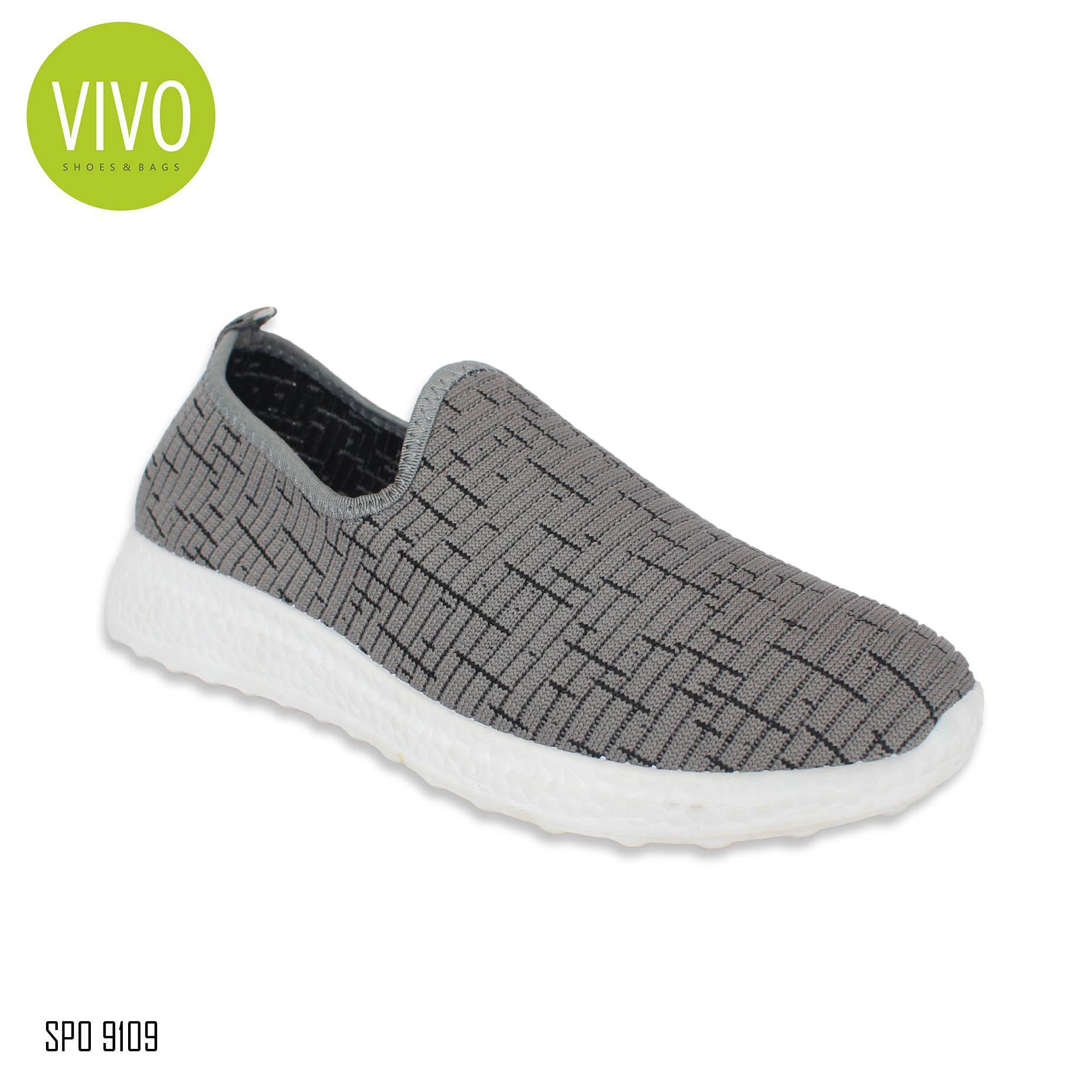 Vivo Fashion Sepatu Wanita/ Sepatu Casual Wanita/ Sepatu Slip On Wanita/ Sepatu Sneakers Wanita SP09109 - Grey Size 36/41