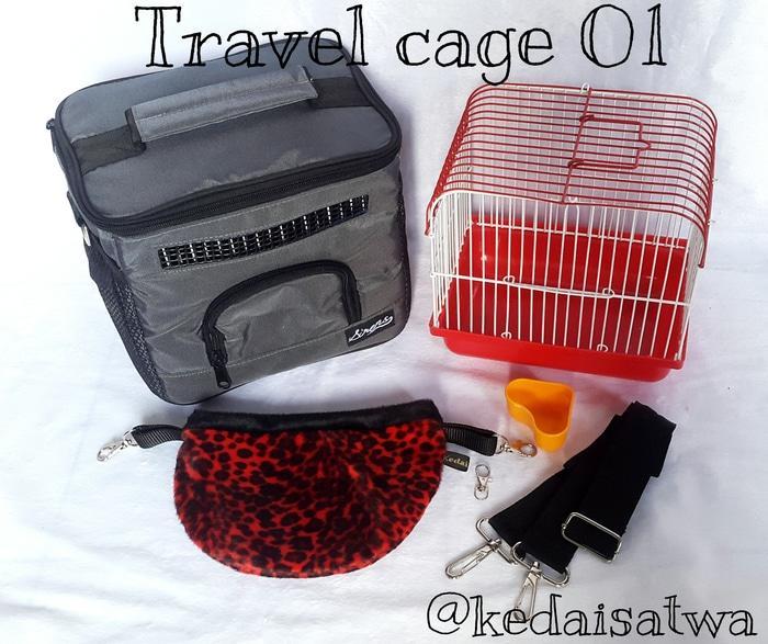 Travel Cage Tas Hewan Untuk Sugar Glider- Hamster- Landak Mini- Tupai_Aksesoris Hewan