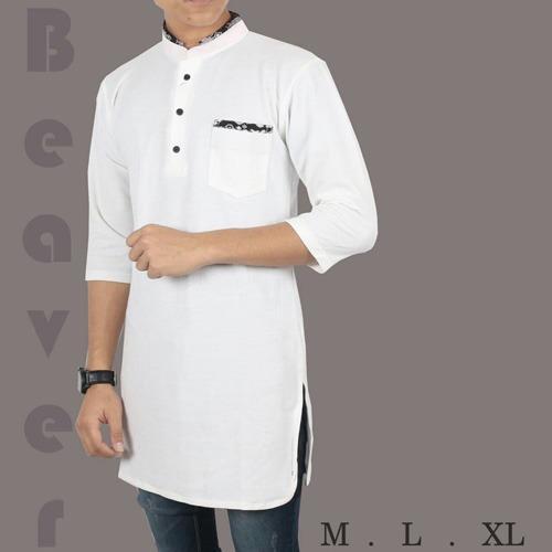 Baju kurta Koko Lacos Putih