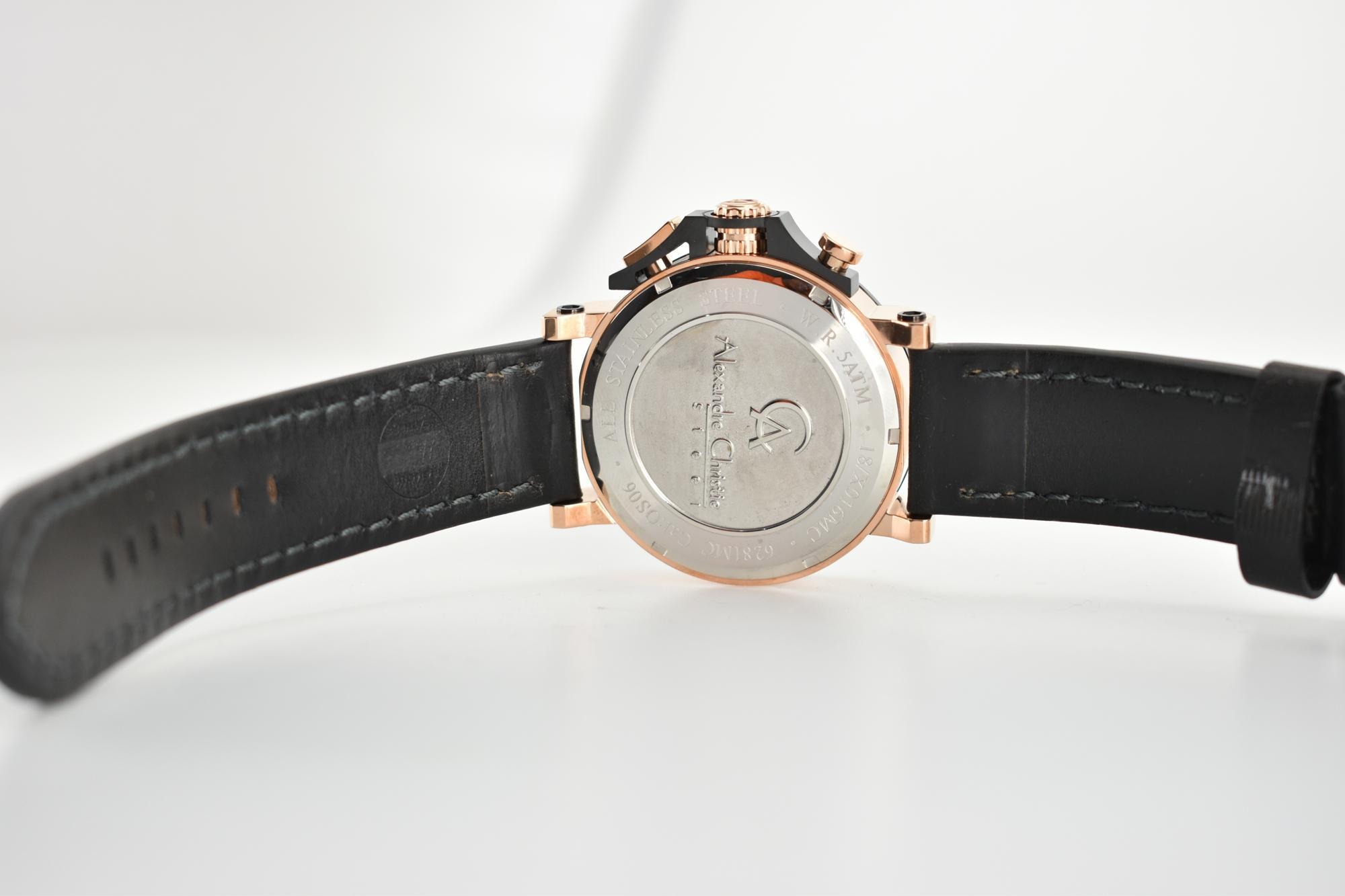 Fitur Alexandre Christie Chronograph Jam Tangan Pria Tali Kulit Case Ac 6453 Silver Black Original Stainless Steel 6281 Biru Blue Navy