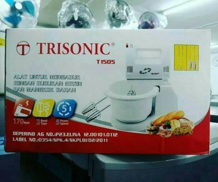 BEST SELLER - Mixer Trisonic T1505 / Pengaduk Kue / Trisonic Stand