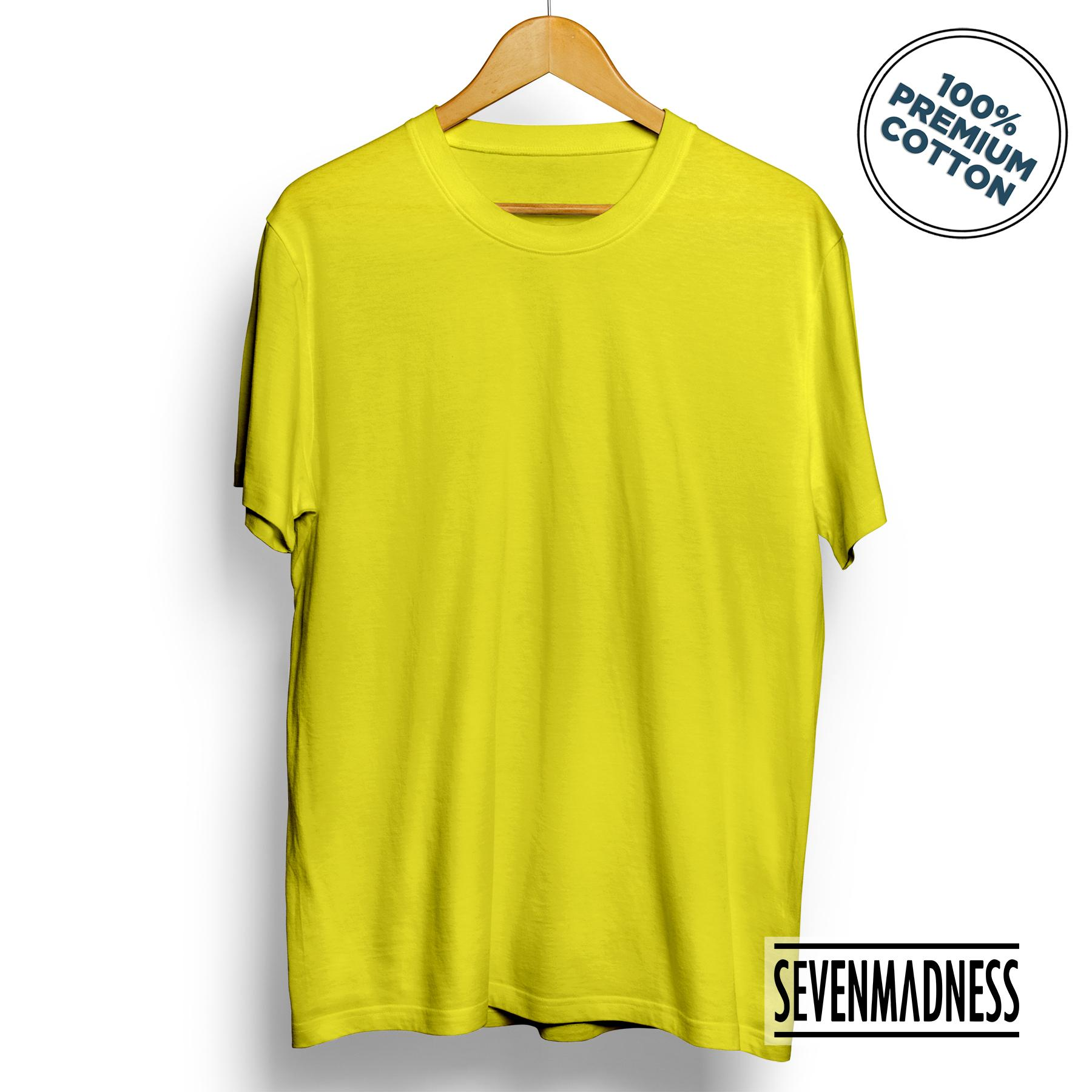 Buy Sell Cheapest Yellow Cotton Kaos Best Quality Product Deals Polos Basic Unisex Pria Wanita Premium Combed Tshirt