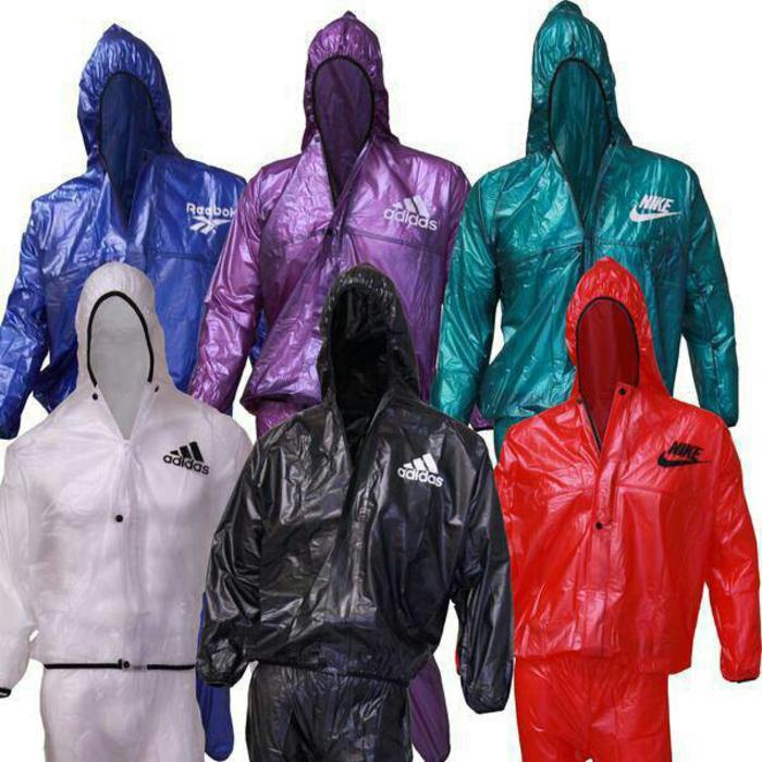 Jas Hujan / Sauna Suit REEBOK, NIKE, ADIDAS Transparan