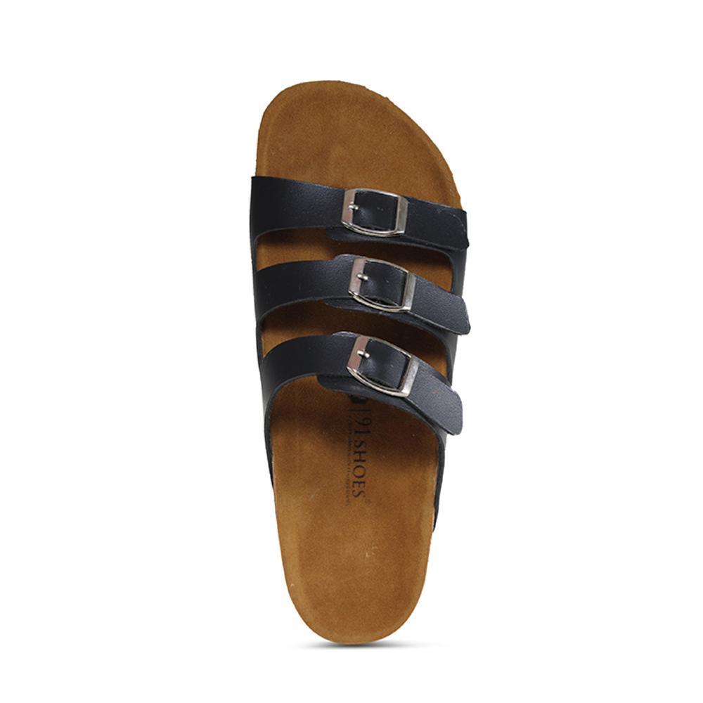 Promo Sandal Pria Dan Wanita 91 Shoes Model Birkenstock Sendal Unisex Gesper 3 Hitam Fashion