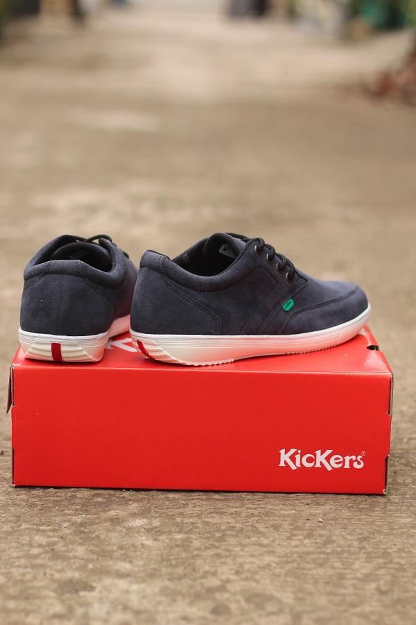 Promo Sepatu Pria Kickers Piero Grey Suede Casual Sneakers Kerja Kuliah Fashion