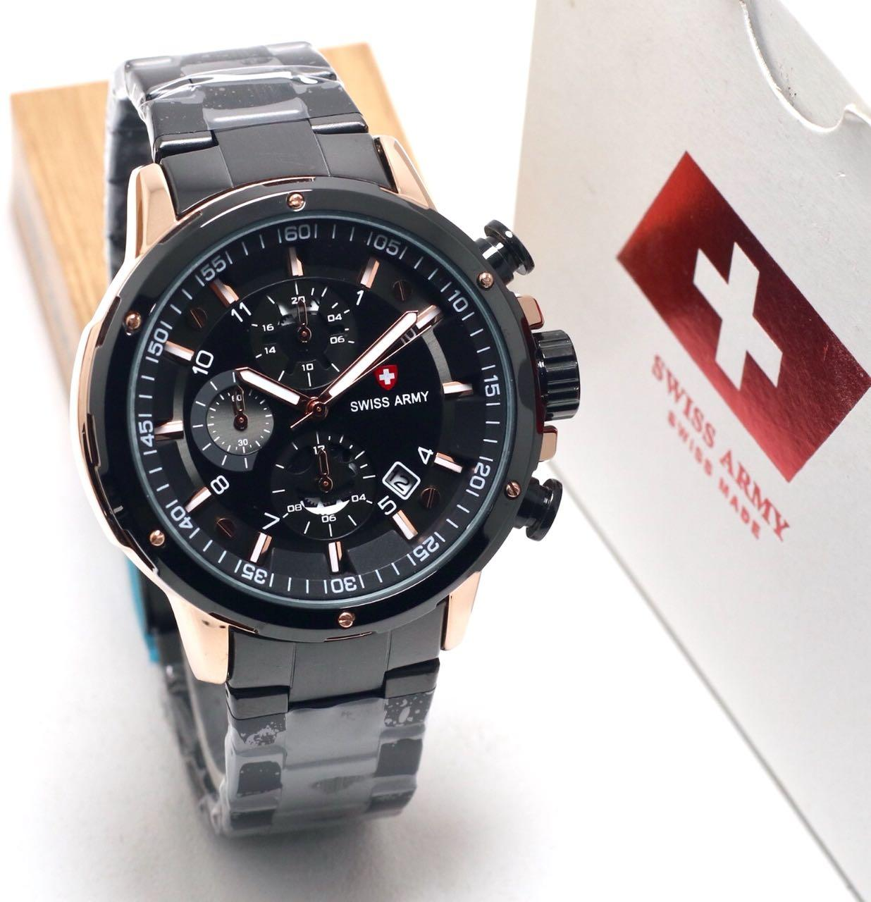 Swiss Army Chrono- Jam Tangan Pria – Full Stainless Steel - SA6410RT