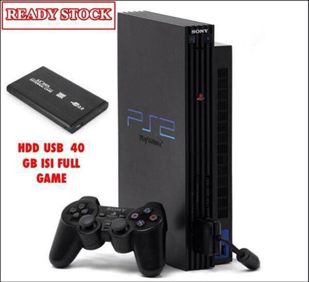 Sony PS2 Fat Hdd External 40Gb [FULL GAME] + Stick 2