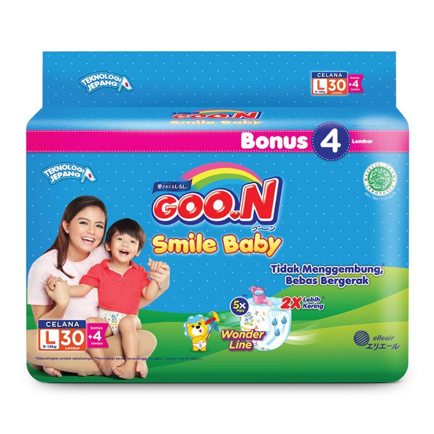 Detail Gambar Smile Baby Pants Wonderline Super Jumbo L isi 30 + 4 (Karton isi 6) Terbaru