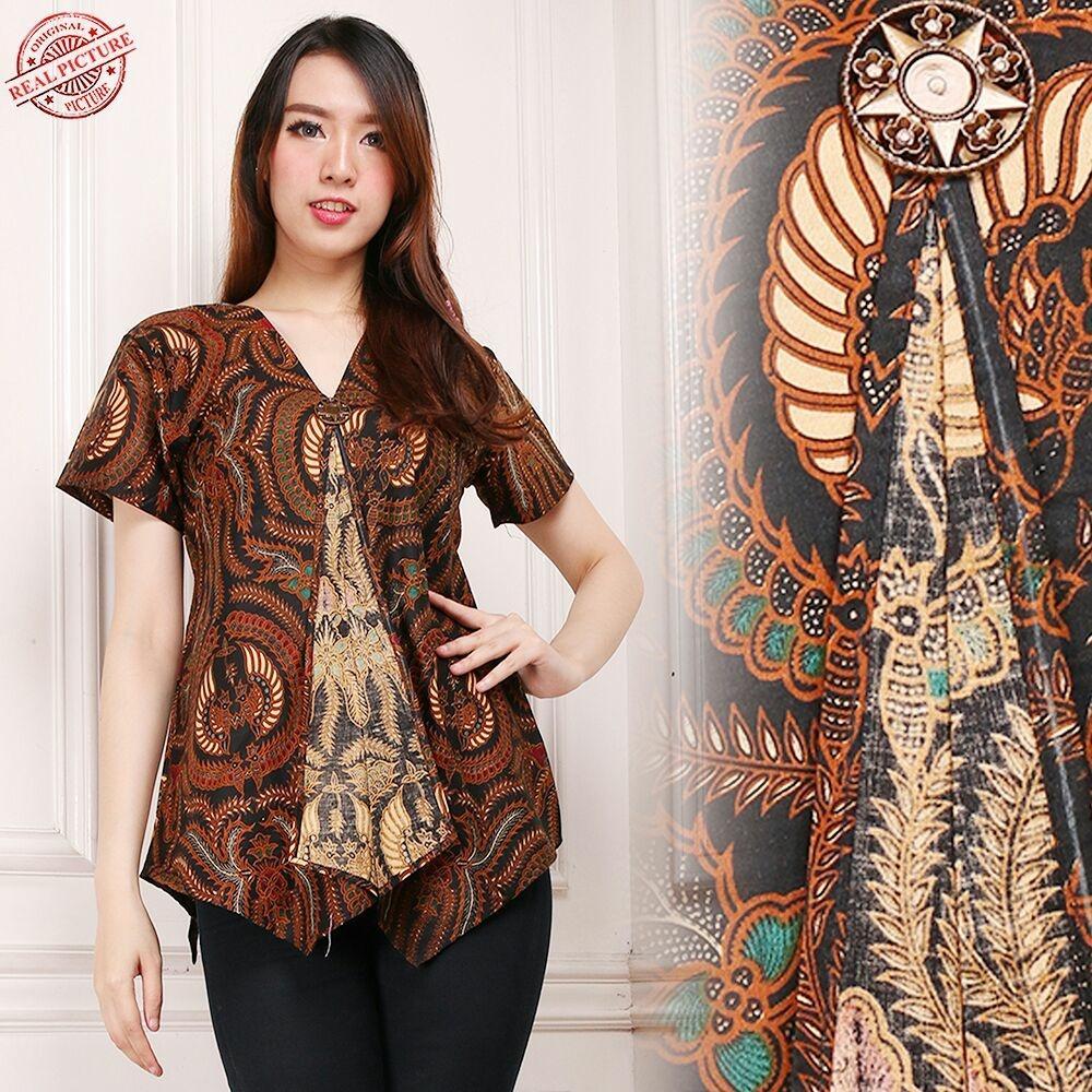 Atasan Blouse Batik Wanita Fitria Tunik