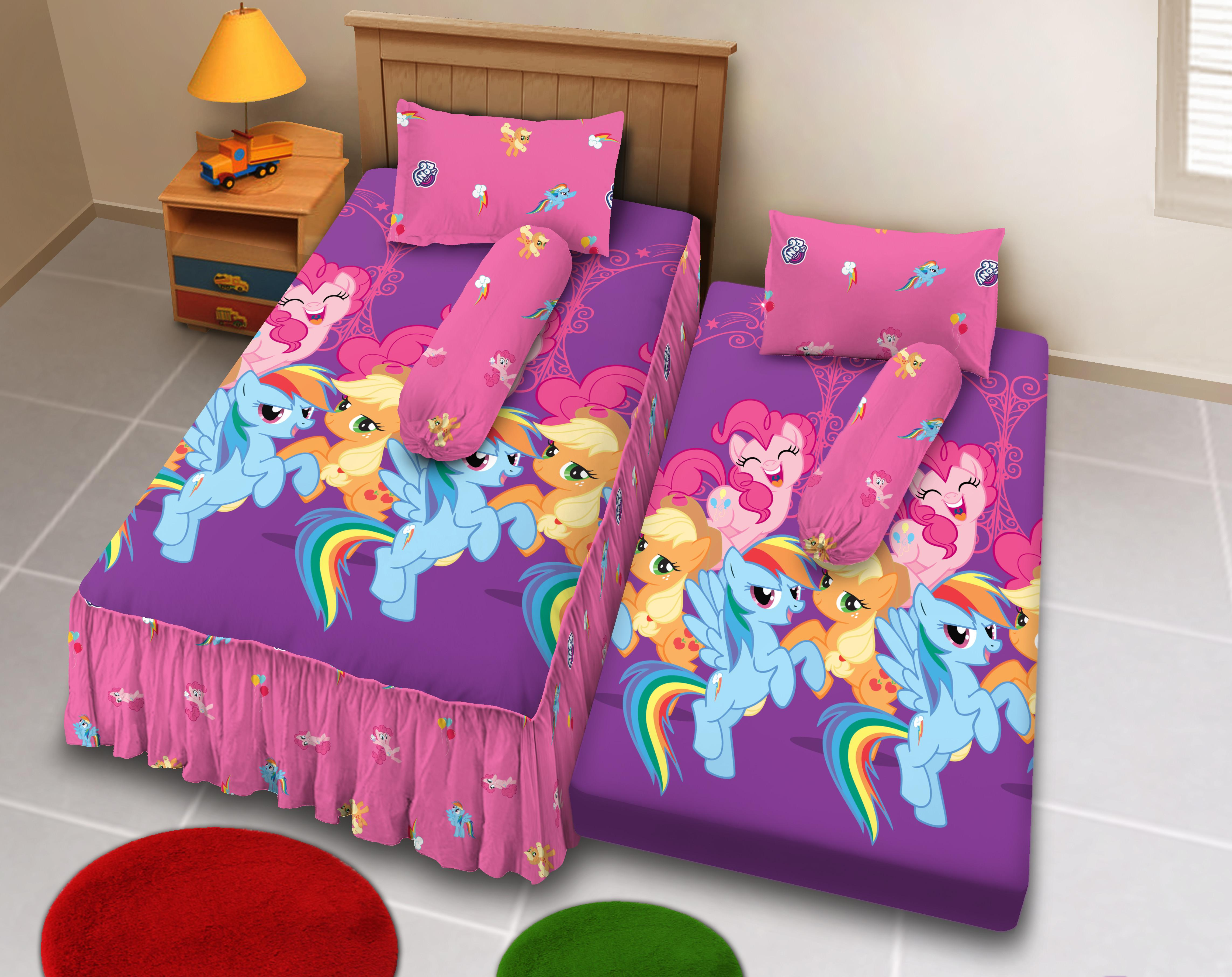 Kintakun D'luxe Sprei 2in1 - 120 x 200 (Single) - Classic Little Pony