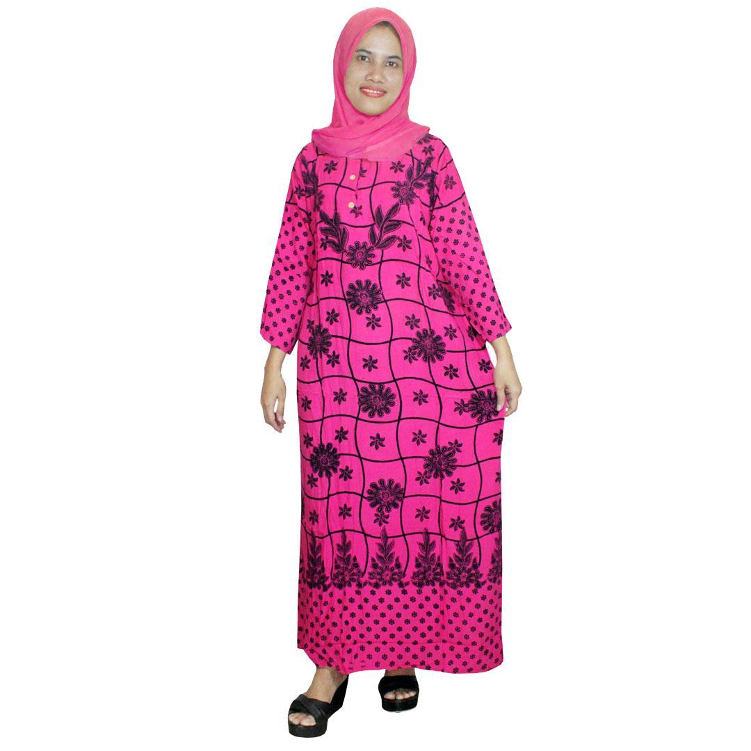 Longdres Batik, Daster Lengan Panjang Batik, Baju Tidur, Piyama, Kancing, Daster Bumil, Busui (LPT001-95) Batik Alhadi