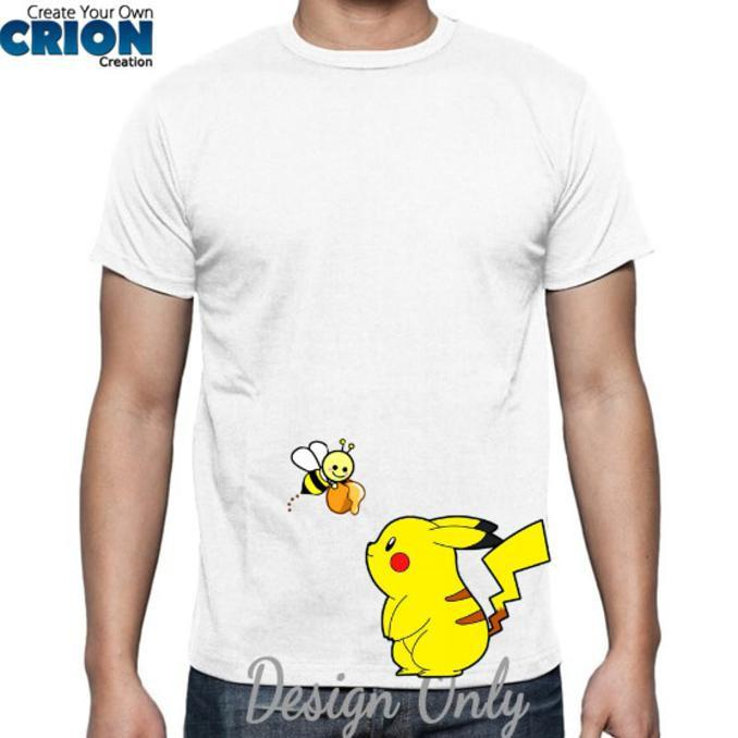 Kaos Pokemon - Pika And Bee - By Crion - Sale Promo!!