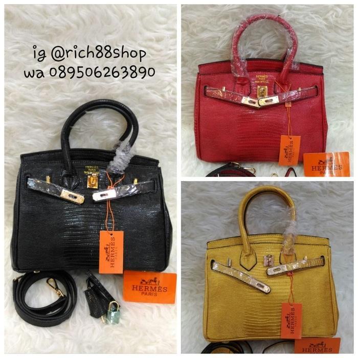 Tas wanita Hand Bag Hermes@ Lizard Import Premium Quality  - IMmsZ7