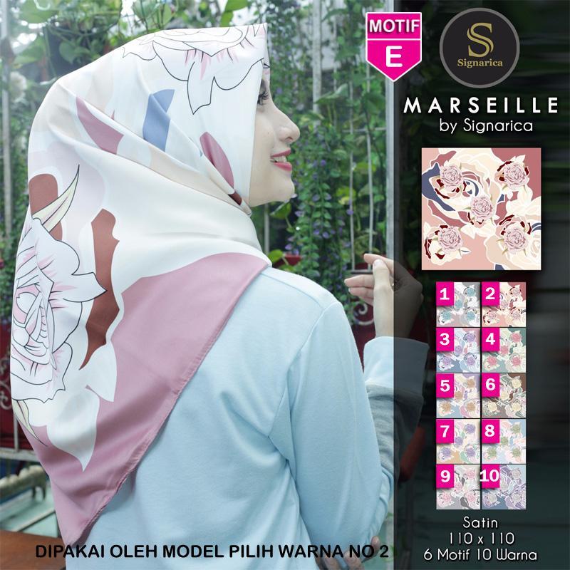 Hijab Segi Empat Marseille E By SIGNARICA - Jilbab kerudung MOTIF