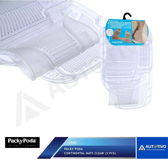 Karpet Mobil Karet Transparan Packy Poda Putih Transparan 2 Baris