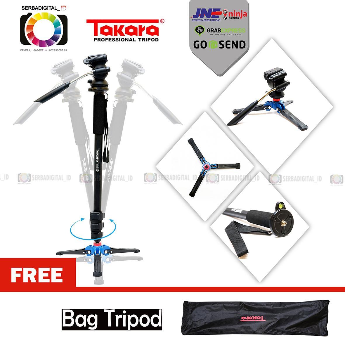 TAKARA VIM 264 Fluid Head Video Monopod, Tripod Camera