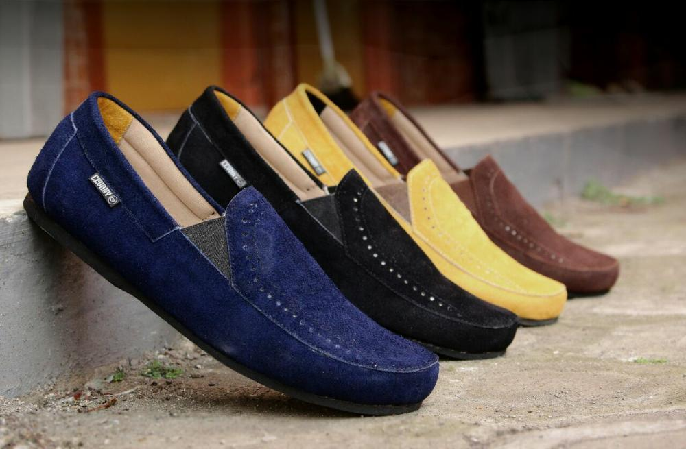 Promo sepatu cevany slop f02 suede sepatu casual cevany slip on sepatu pria cevany casual kulit suede casual santai model terbaru  Diskon