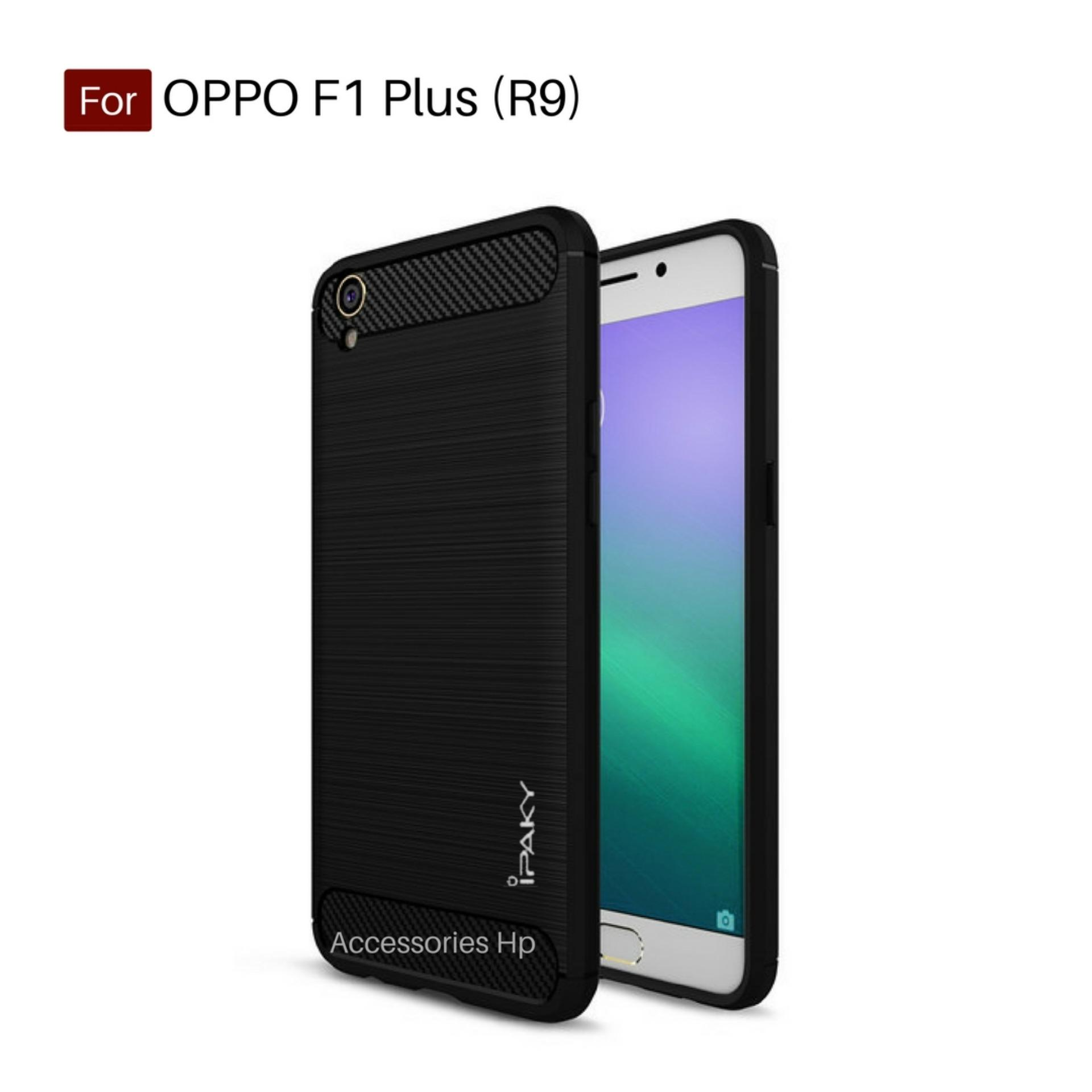 Accessories HP Premium Quality Carbon Shockproof Hybrid Case For OPPO F1 Plus (R9) - Black