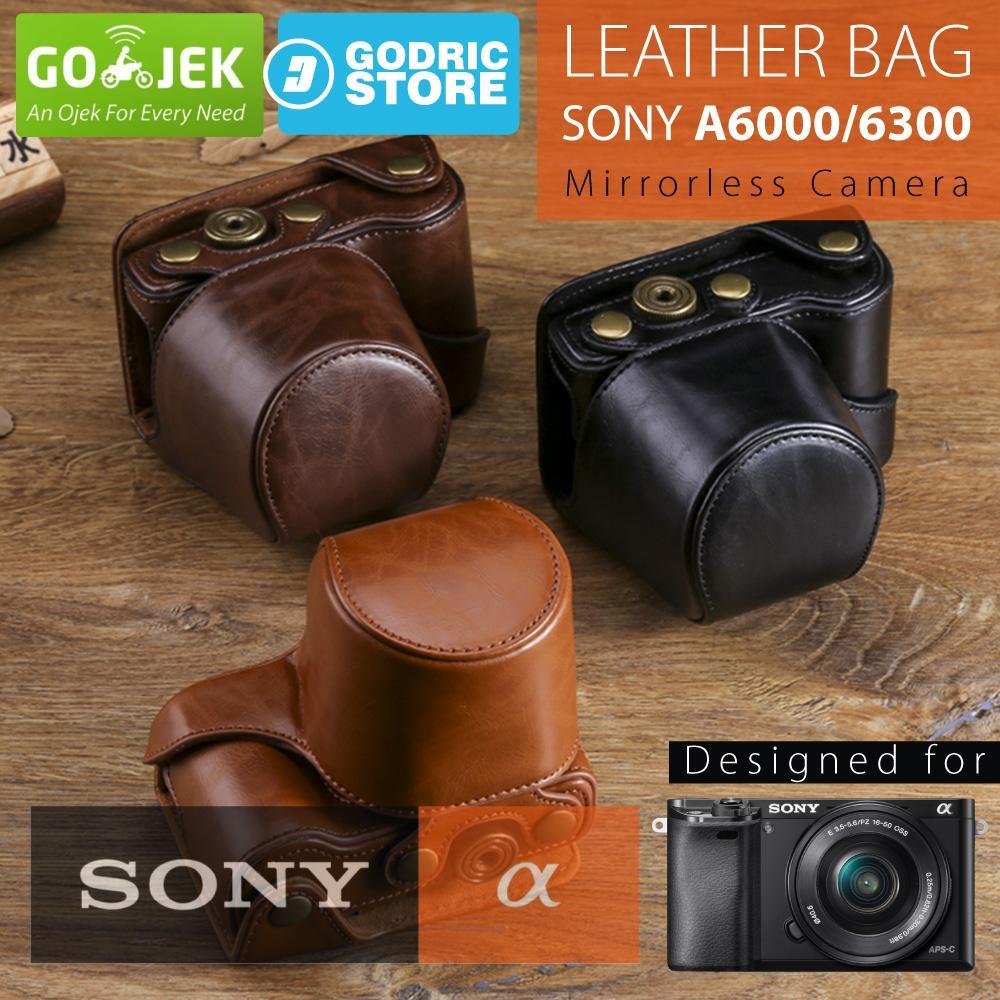 Sony Alpha A6000 / A6300 Leather Bag / Case / Tas Kulit Kamera Mirrorless