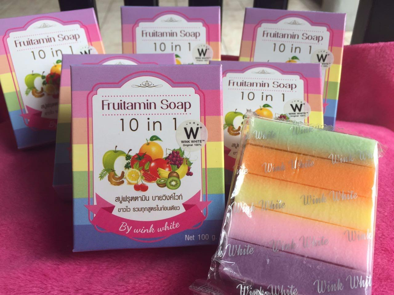 Fruitamin Wink White Soap 10 in 1 100gr - 2 PcsIDR50600. Rp 58.500