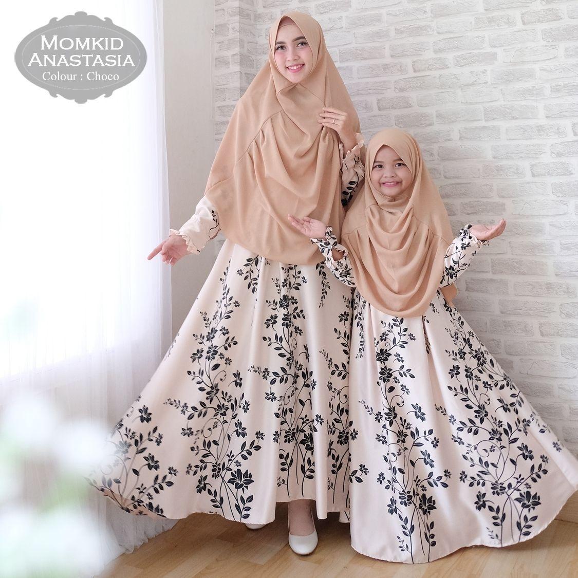 Key&kay88 gamis muslim syar'i maxmara anastasia ibu dan anak couple