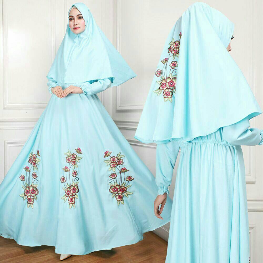 cs - MAXI / DRESS MUSLIM FLOWER BORDIR ( DRESS+KRUDUNG ) PREMIUM MATT BALOTEY