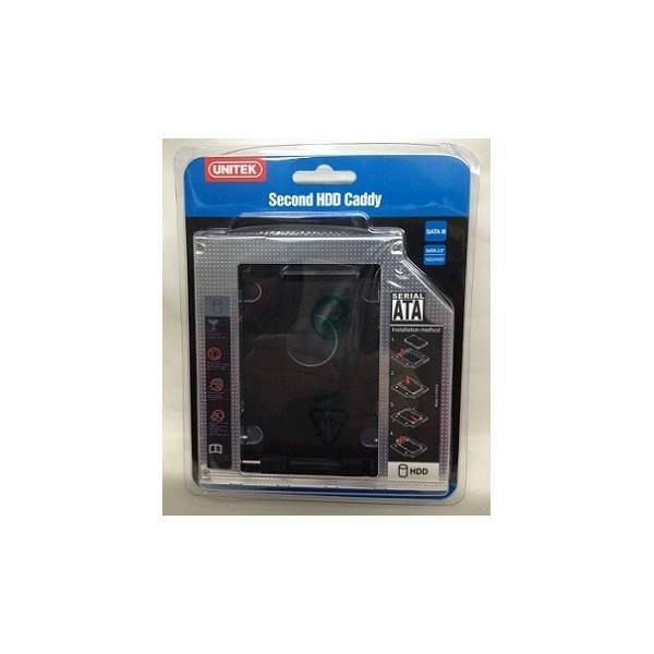 Hardisk HDD SSD Caddy Unitek Y-SD1003 9.5Mm SATA DVD Slot Notebook