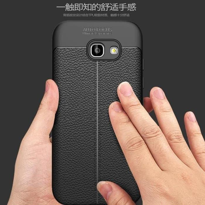 Detail Gambar Samsung A5 2017 SOFTCASE AUTO FOCUS LEATHER CASING KULIT Hardcase a520 Terbaru