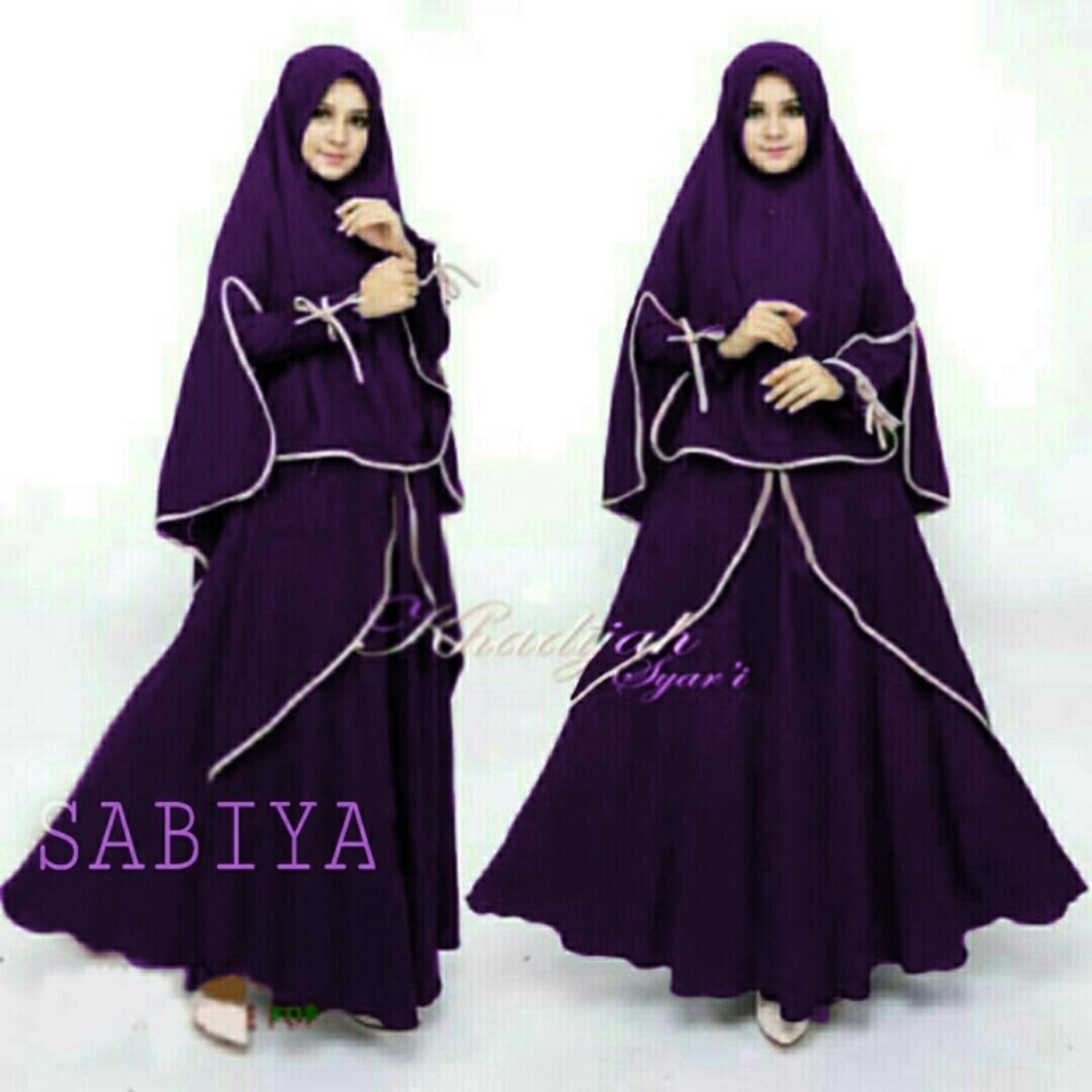 Dress Gamis SABUYA PAKAIAN MUSLIS DRESS MAXI SYARII GROSIR TANAH ABANG