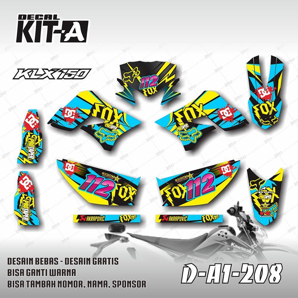 Decal Stiker Dekal Sticker Striping Custom Motor KLX 150 Dtracker D-A1-208