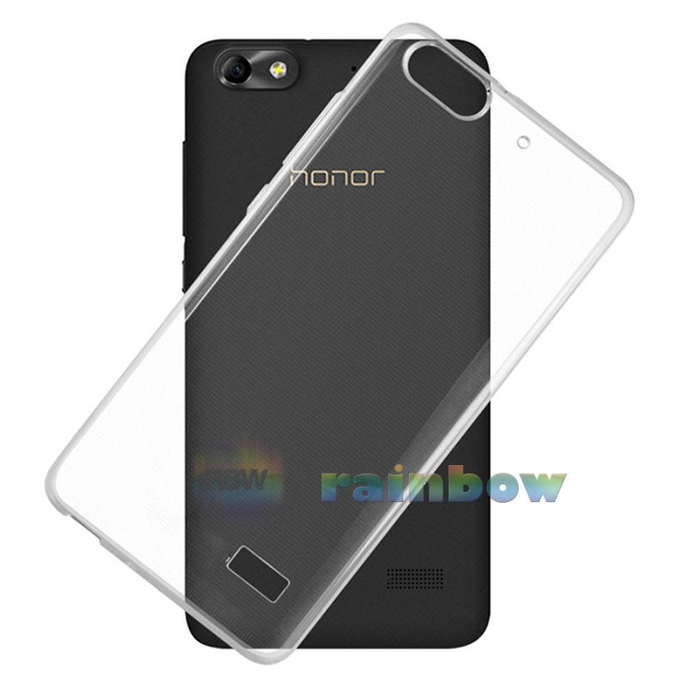 Rainbow Soft Case Huawei Honor 4C Clear / Silicon Case Huawei 4C / Ultrathin Huawei Honor 4C / Silikon Huawei 4C / Jelly Case Huawei 4C / Case Unik / Silicone Casing Huawei Honor 4C - Transparan