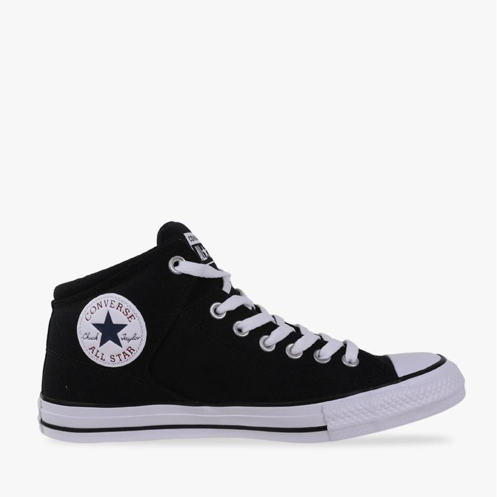 Converse Chuck Taylor All Star High Street Hi Men's Sneakers Shoes - Hitam - BTS