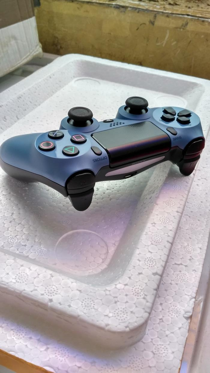 TERLARIS Stik Stick PS4 Wireless Dualshock 4 Original Rekondisi - Blue Grey PROMO