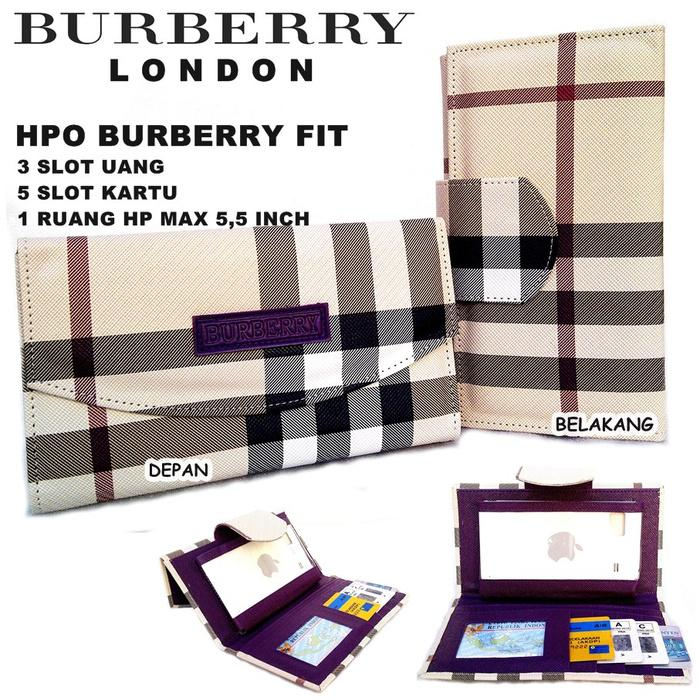 DOMPET HPO BURBERRY FIT FOR HP BB ANDROID KW DUA TAMPILAN UNGU - rCgqXH