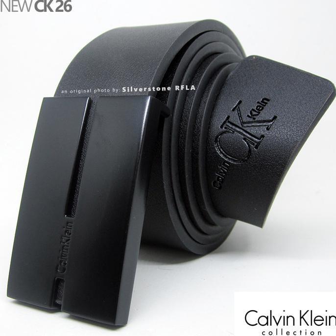 Gesper Pria - Calvin Klein Executive Ck-26 - Sabuk Ikat Pinggang Kulit - Mdmf3u