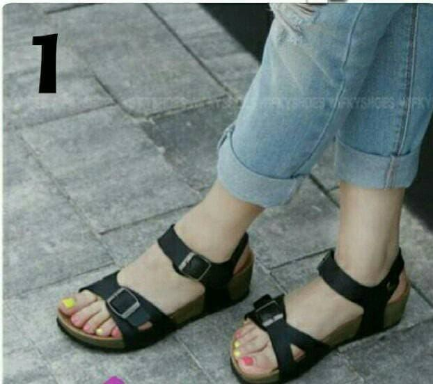 Sendal Sepatu Tali Model Birkenstock Carvil New Era Tali Hitam / sandal flat / sepatu murah / sepatu boots / sandal flat / sepatu sneakers / sandal keren / wedges murah / sepatu wanita / sandal wanita / sepatu sandal / sepatu berkualitas