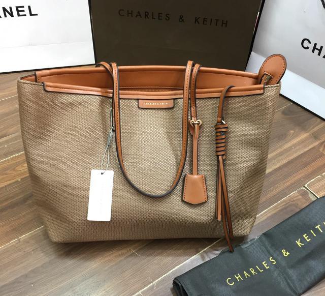 tas wanita import Charles and keith textured Original kanvas - gXBnec