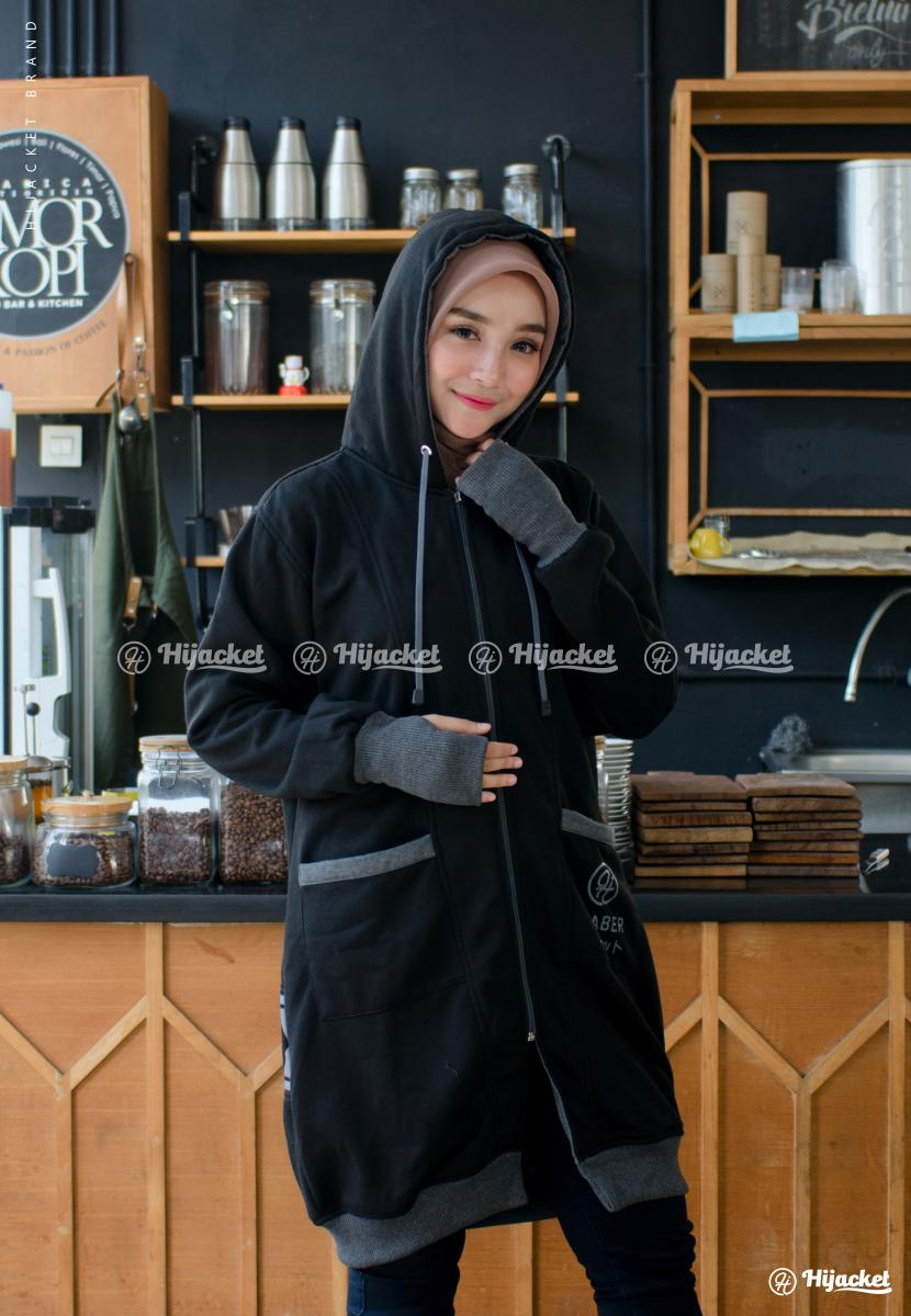 Jaket Sporty Japan Style Hijacket Black Yukata