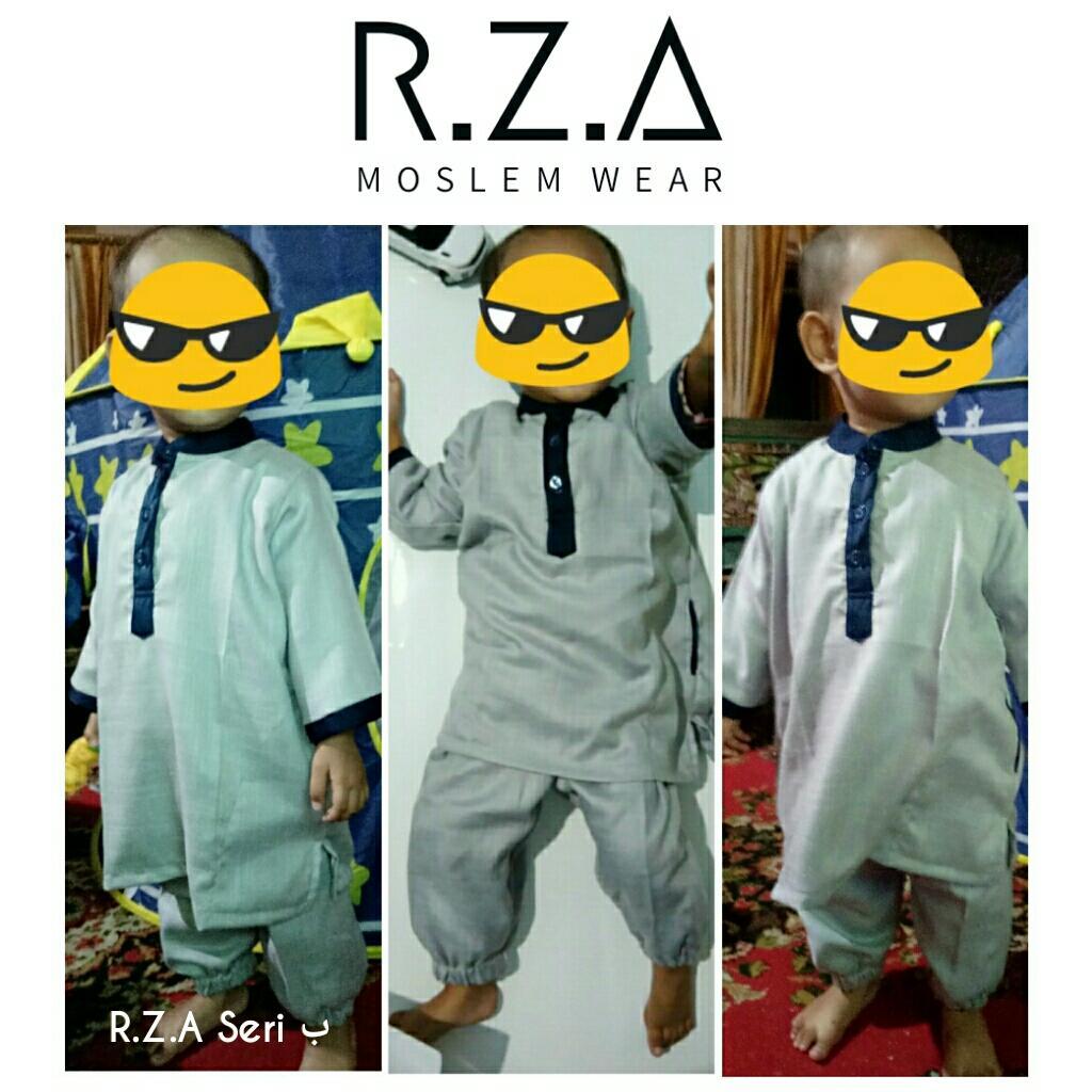 RZA MW Baju Gamis Turki Seri ( Ba' ) Anak Laki Setelan Baju dan Celana Silver Abu Abu Milenium Kain Premium Dingin Dipakai Pakistan Arab Koko Jubah Anak Syari Syari Ganteng Tidak Isbal Lebaran Hari Raya Idul Fitri