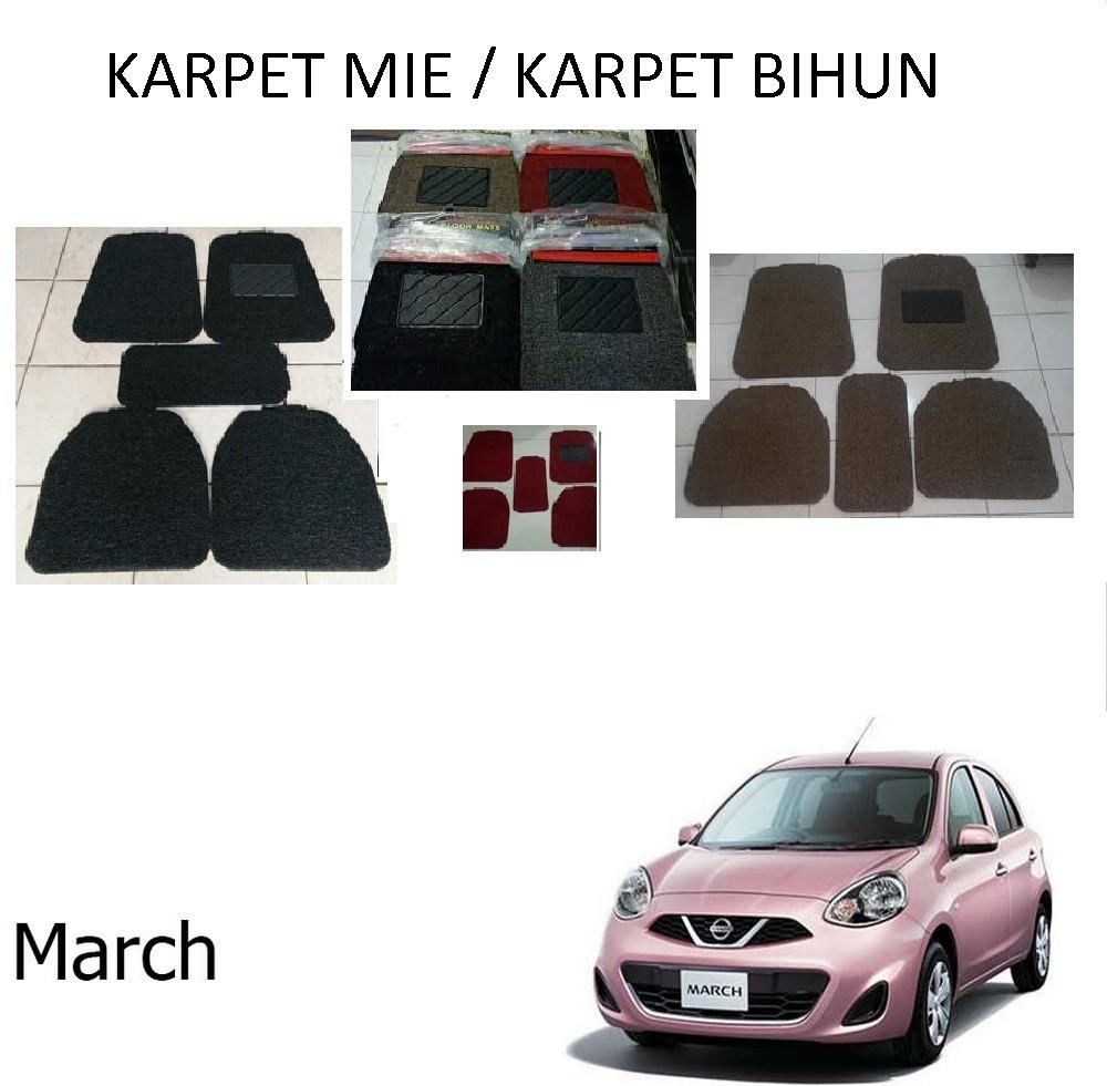 Karpet Mobil March / Car Carpet / Floor Mats Universal Model Mie Keriting