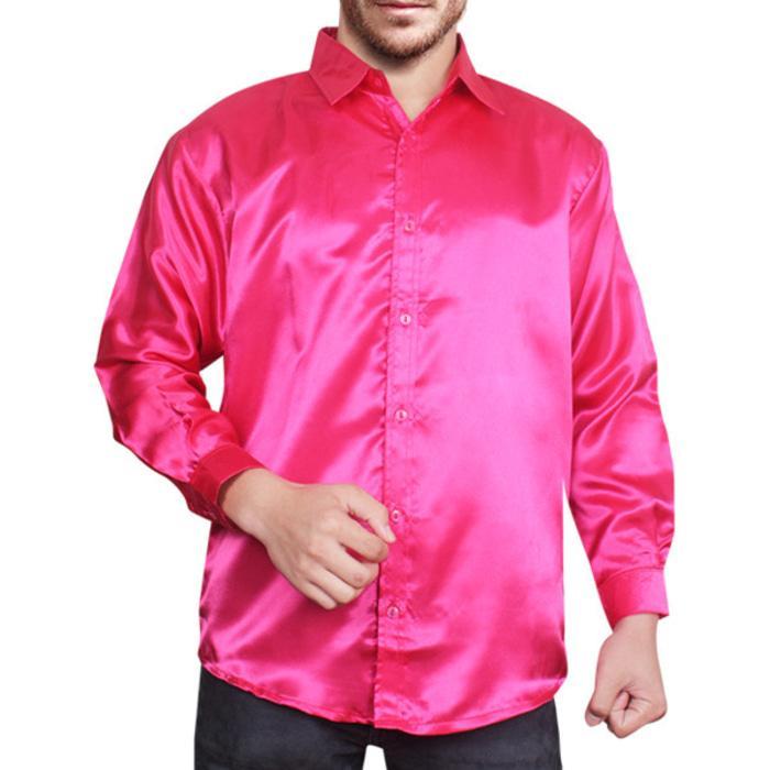 Best Item! Kemeja Pria Saten Pink FantaKode Dhala-FASH094