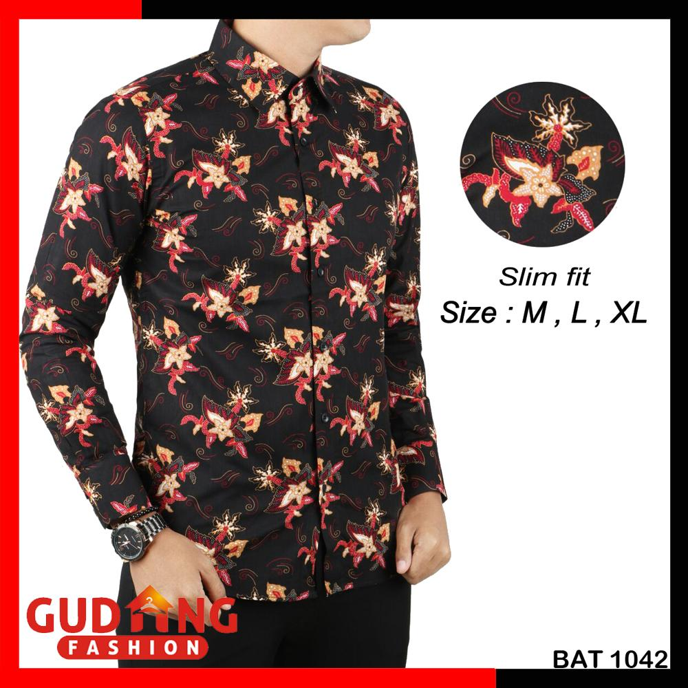 The Cheapest Price Gudang Fashion Kemeja Batik Pria Slimfit Pendek Baju Koko Lengan Panjang Katun Biru Dongker Kkl 04 Kombinasi Modern