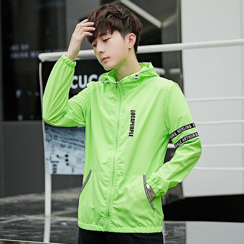 Smith Barney Baju Pelindung Matahari Musim Panas Jaket Korea Fashion Style Pria Sangat Tipis (Hitam)