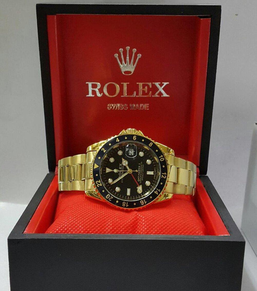 Jam Tangan Rolex GMT Master II Gold Dial Black