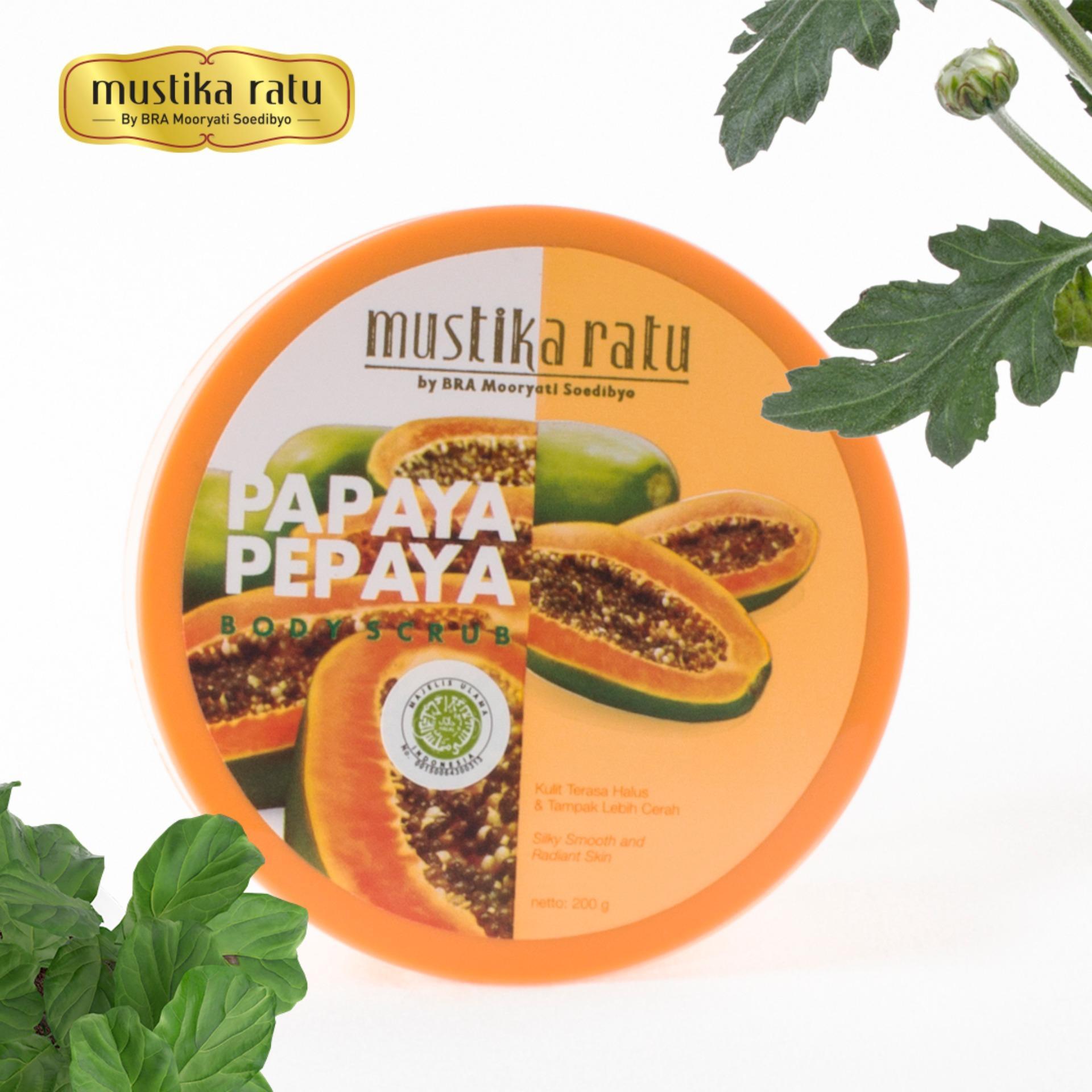 Mustika Ratu Pepaya Body Scrub / Papaya Body Scrup (200 g)