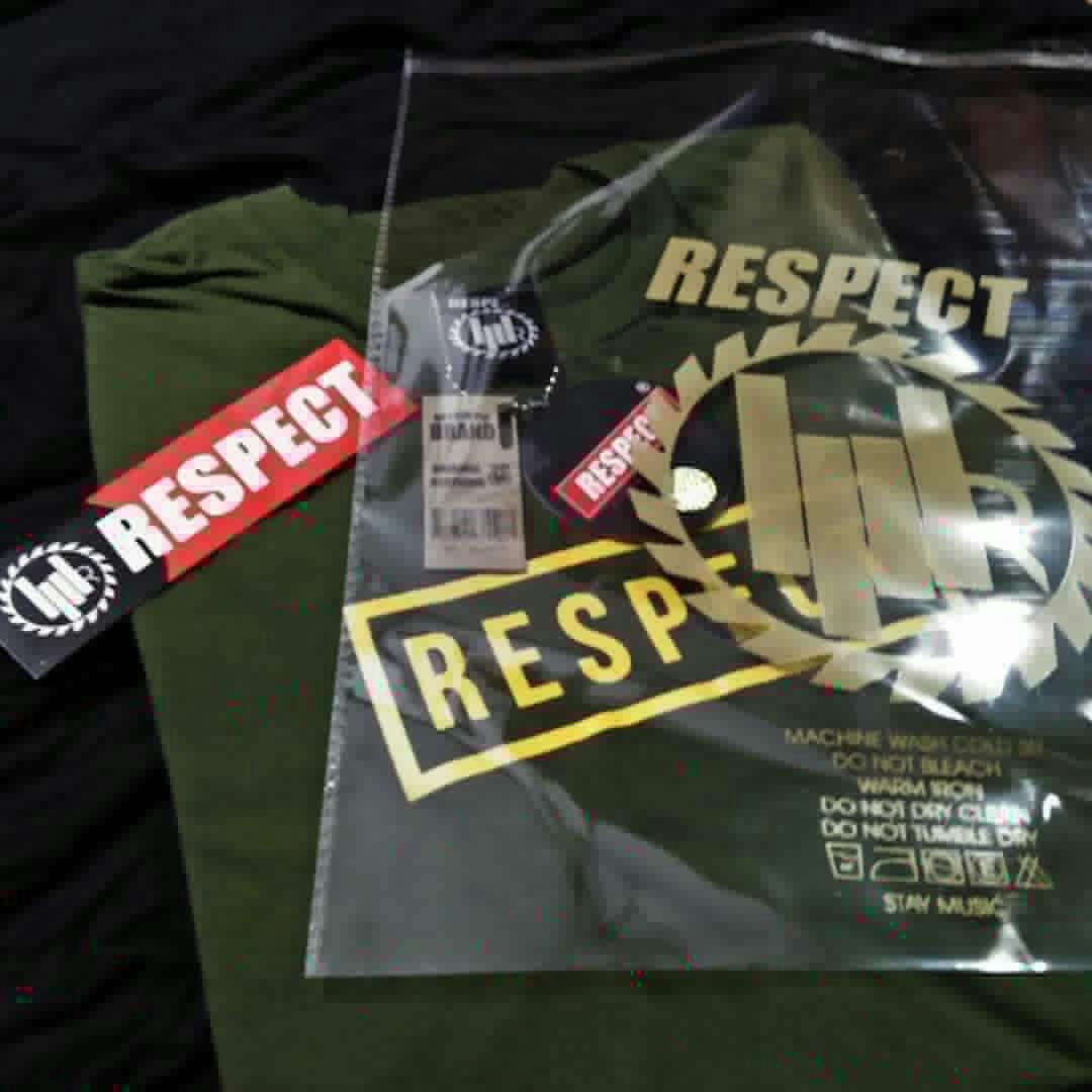 Detail Gambar Kaos distro RESPECT (Black edition). Terbaru